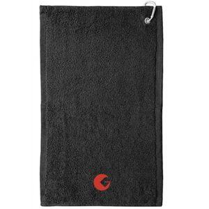 SERVIETTE DE GOLF GOLFON – Noire logo rouge